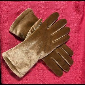 Gold velvet gloves with Thinsulate